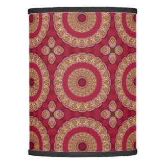 Red Gold Yellow rosettes Mandala Lamp Shade