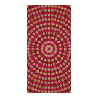 Red Gold Yellow Star Mandala Card
