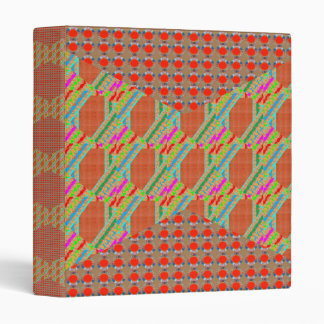 RED Golden DOTS Jewel PATTERN Graphics HOME Office Binder