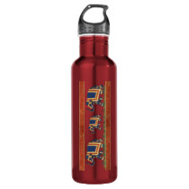 red golden elephant print Waterbottle 24oz or 32oz Stainless Steel Water Bottle