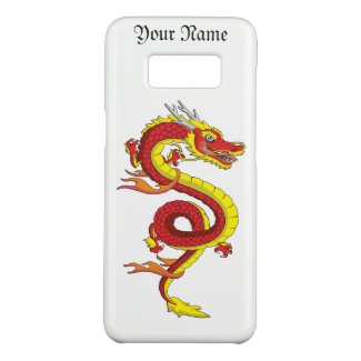 Red Golden Fliying Dragon Samsung Galaxy Case