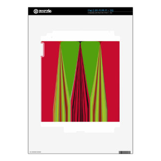 RED GOLDEN GREEN iPad 2 DECAL