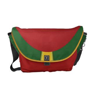 Red Golden Green Jamaica Rasta Colors Messenger Bag