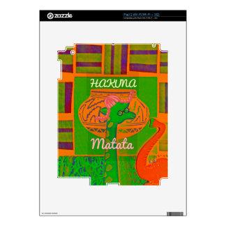 Red Golden Green Rasta Giraffe Colors Decals For iPad 2
