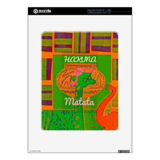 Red Golden Green Rasta Giraffe Colors iPad Decal