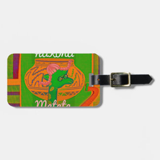 Red Golden Green Rasta Giraffe Colors Luggage Tag