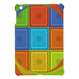 Red Golden Green square  Curve iPad Mini Covers