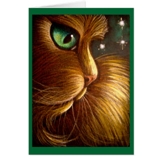 RED GOLDEN PERSIAN HOLIDAY Card