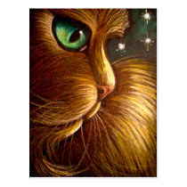 RED GOLDEN PERSIAN HOLIDAY Postcard