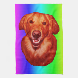 Red Golden Retriever Front Profile Towel
