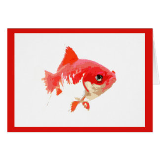 Red Goldfish Card