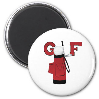 Red Golf Bag Golf Fridge Magnet