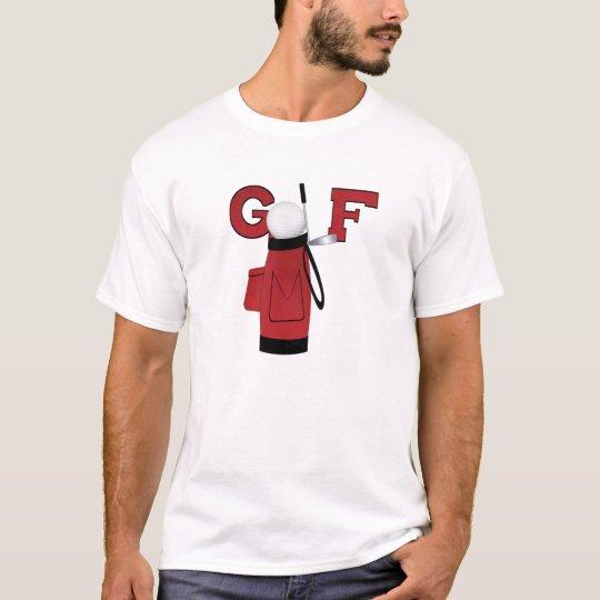 Red Golf Bag Golf T-shirt