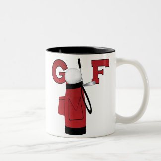 Red Golf Bag Golf Two-Tone Coffee Mug