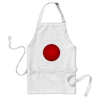 Red Golf Ball Adult Apron