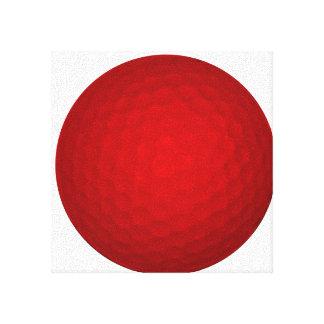 Red Golf Ball Canvas Prints