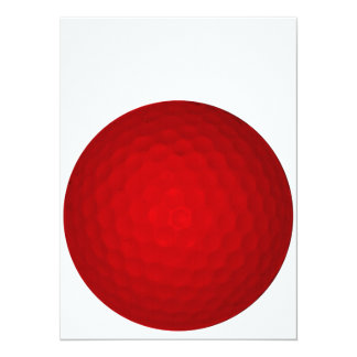 Red Golf Ball Card