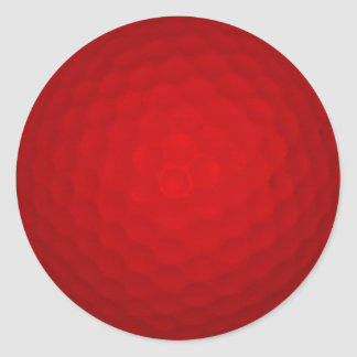 Red Golf Ball Classic Round Sticker
