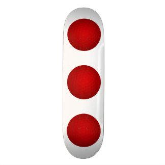 Red Golf Ball Custom Skateboard