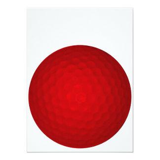 Red Golf Ball Custom Invitations