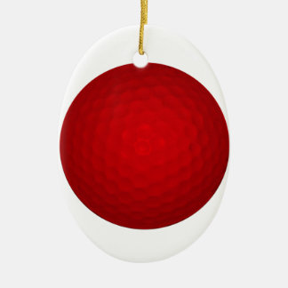 Red Golf Ball Ornaments