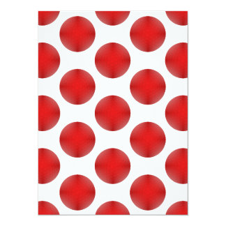 Red Golf Ball Pattern Card