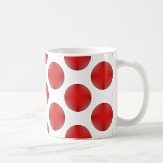 Red Golf Ball Pattern Coffee Mug