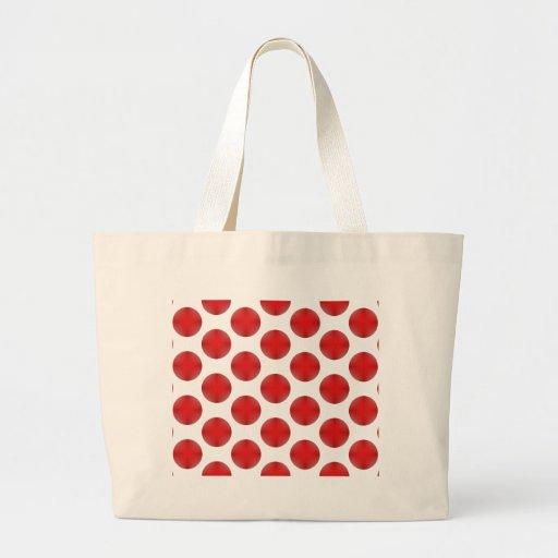 Red Golf Ball Pattern Jumbo Tote Bag