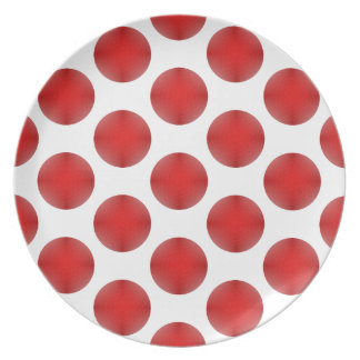 Red Golf Ball Pattern Plate