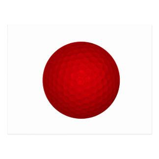 Red Golf Ball Postcard