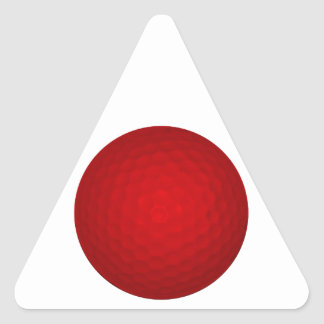 Red Golf Ball Triangle Sticker