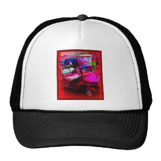 Red Golf Car Mesh Hat
