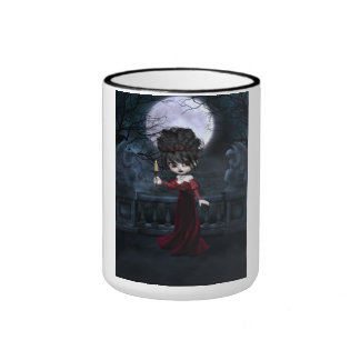 Red Goth Girl Mug