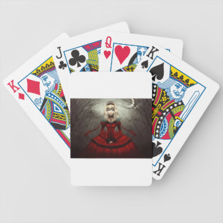 Red Gothic Bicycle Playing Cards