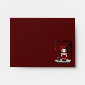 Red Gothic Love Doll Pixel Art Envelope