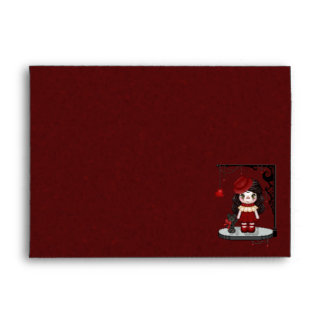 Red Gothic Love Doll Pixel Art Envelope