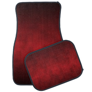 Red Gothic Ombre Background Art Car Floor Mat