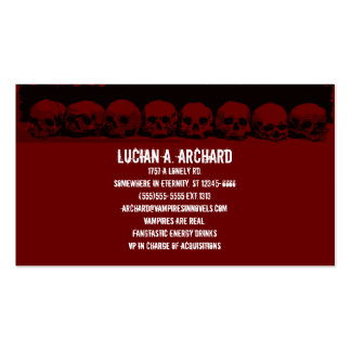 Red Gothic Skulls Business Card