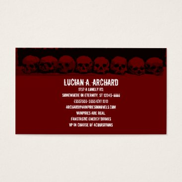 Professional Business Red Gothic Skulls Business Card