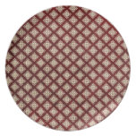 Red Gothic Wallpaper Dinner Plates