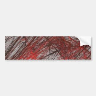 Red Gra Abstract Fractal Background Bumper Sticker Car Bumper Sticker