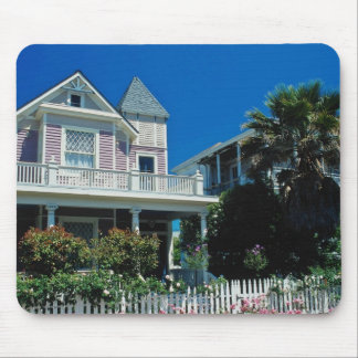 Red Gracious colonial district flowers Mousepads