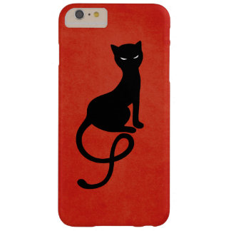 Red Gracious Evil Black Cat Barely There iPhone 6 Plus Case