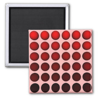 Red gradient ball array on light-red background magnet