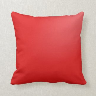 Red Gradient Throw Pillows