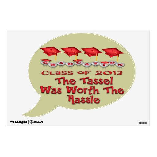 Red Graduation Caps Wall Decal