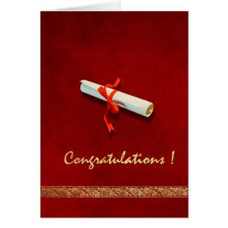 Red Graduation Card