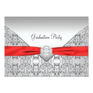 Red Graduation Party Invitation