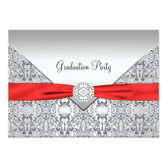 Red Graduation Party Invitation
