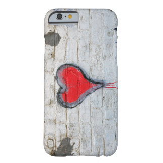 Red graffiti heart barely there iPhone 6 case